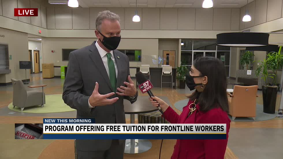 New program offers free college tuition for frontline workers